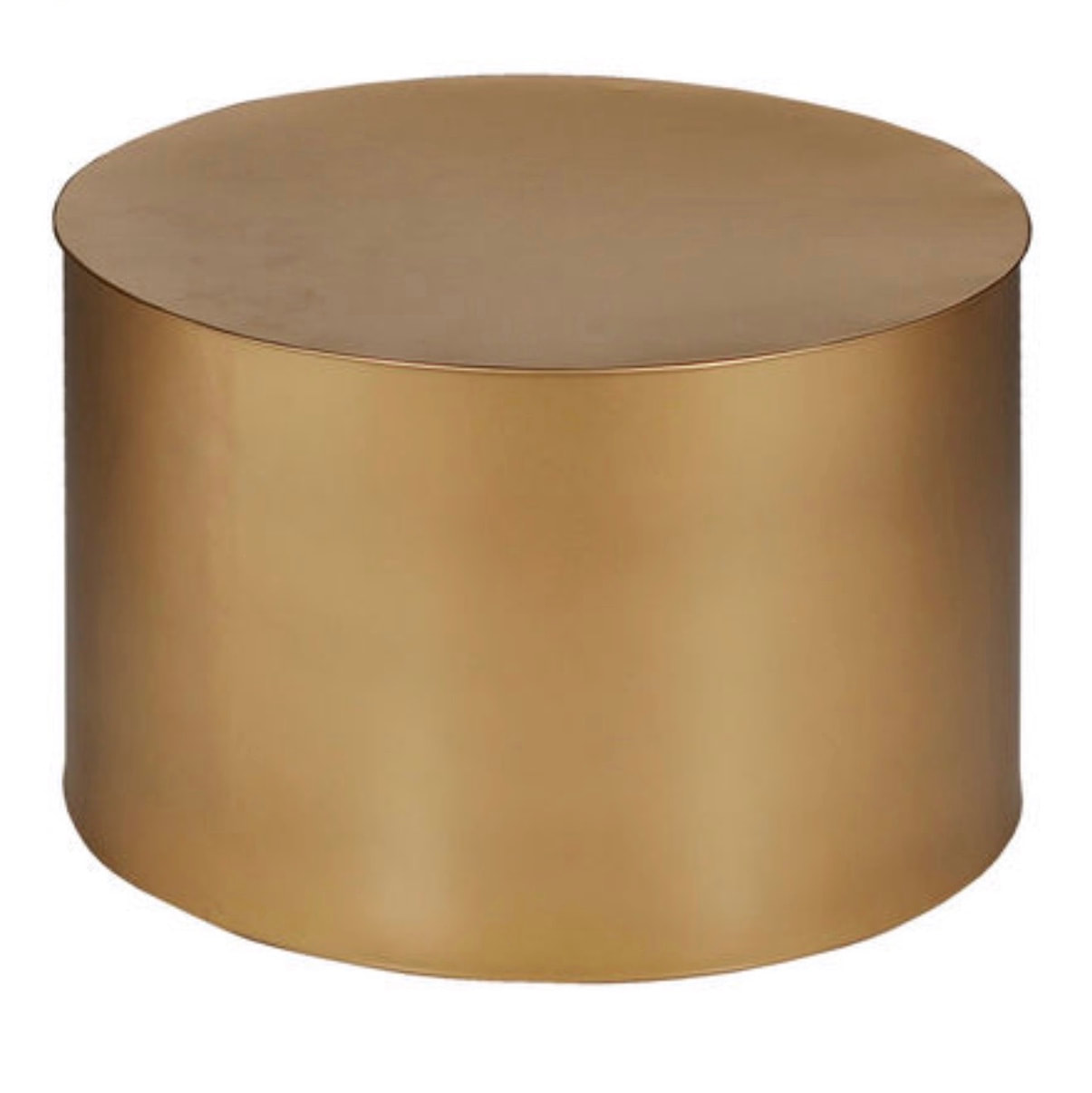 Gold Drum Coffee Table